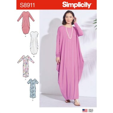 Simplicity Sewing Pattern S8911 Misses Knit Caftans