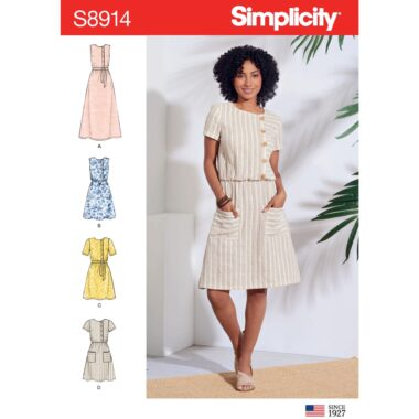 Simplicity Sewing Pattern S8914 Misses Dresses