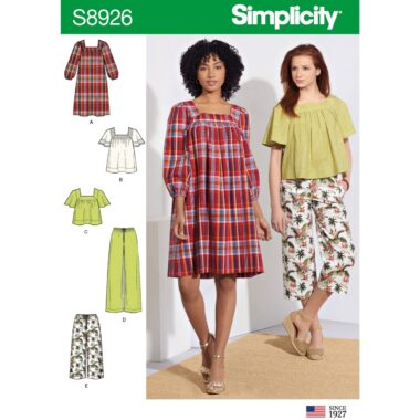 Simplicity Sewing Pattern S8926 Misses Dress Tops and Pants
