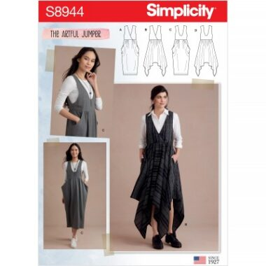 Simplicity Sewing Pattern S8944 Misses Jumpers