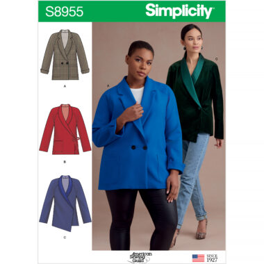 Simplicity Sewing Pattern S8955 Misses and Womens Raglan Sleeve Jackets