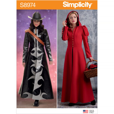 Simplicity Sewing Pattern S8974 Misses' Cosplay Coat Costume