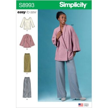 Simplicity Sewing Pattern S8993 Misses Knit Jacket, Top, Skirt and Pants