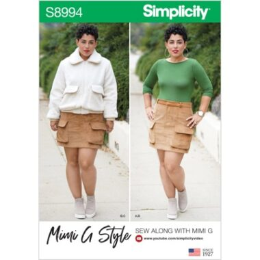 Simplicity Sewing Pattern S8994 Misses Mimi G Style Jacket, Skirt, and Knit Top