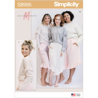 Simplicity Sewing Pattern S8995 Misses Lounge Pants and Knit Lounge Top