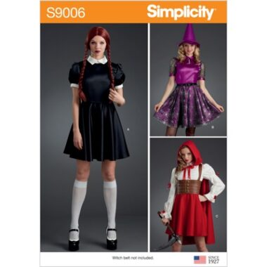 Simplicity Sewing Pattern S9006 Misses Halloween Costumes
