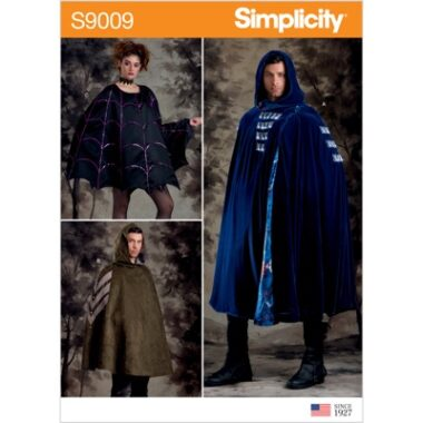 Simplicity Sewing Pattern S9009 Misses, Men's and Teens' Cape Costumes