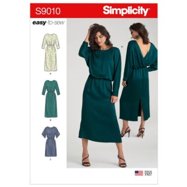 Simplicity Sewing Pattern 9010 Misses Dresses with Length Variation