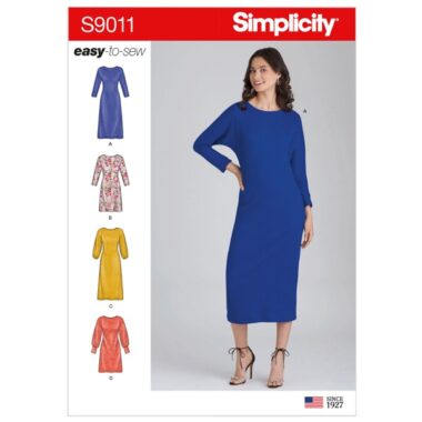 Simplicity Sewing Pattern S9011 Misses Knit Pullover Dresses
