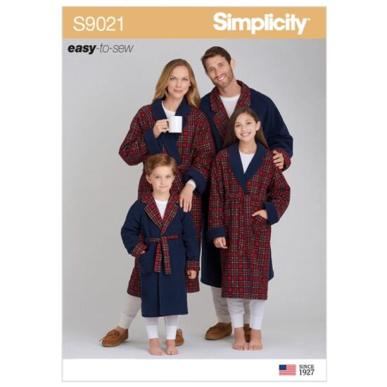 Simplicity Sewing Pattern S9021 Children's, Teens & Adults Robe