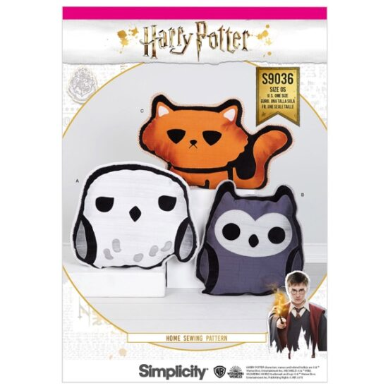 Simplicity Sewing Pattern S9036 Harry Potter Stuffed Pillows