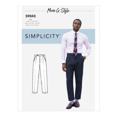 Simplicity Sewing Pattern S9043 Mens Pants
