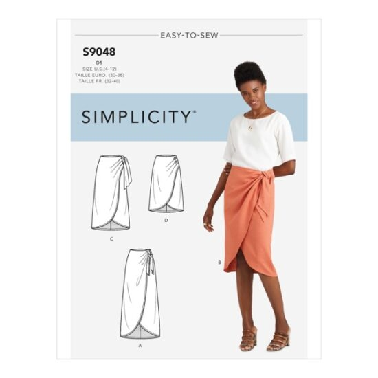 Simplicity Sewing Pattern S9048 Misses Sarong Skirt With Pleats/Gather