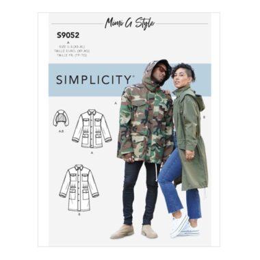 Simplicity Sewing Pattern S9052 Misses Mens & Teen's Jacket & Hood