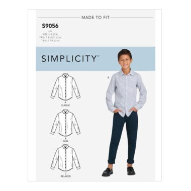 Simplicity Sewing Pattern S9056 Childrens & Teen Boys Shirts