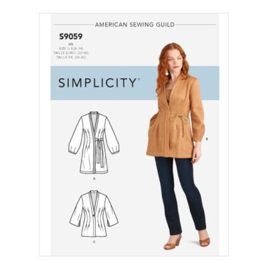 Simplicity Sewing Pattern S9059 Misses Jacket In Three Lengths