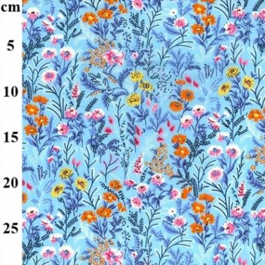 Flower Garden Rose and Hubble Cotton Fabric