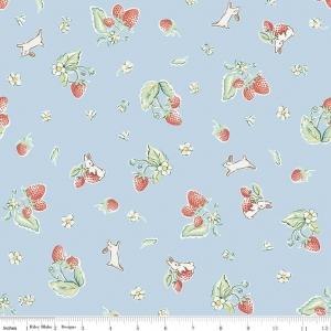 Bunnies Strawberry Riley Blake / Penny Rose Fabric