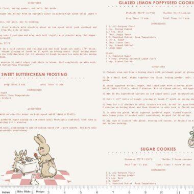 Bunnies Recipes Riley Blake Penny Rose Fabric