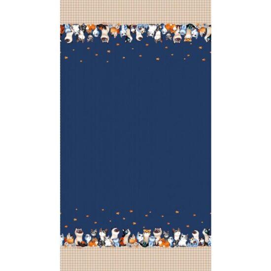 Cats Border Michael Miller Cotton Fabric