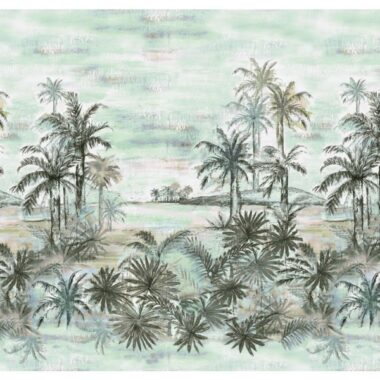 Island Palms Landscape Beauty Michael Miller Cotton Fabric