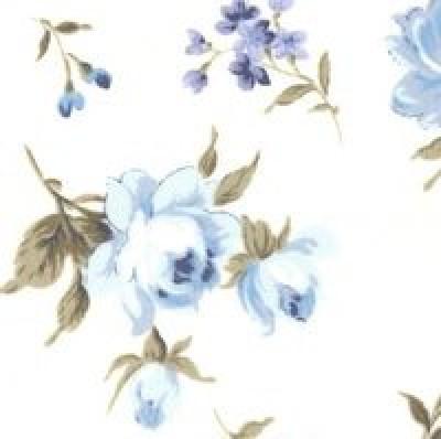 Flowers Cotton Poplin Fabric