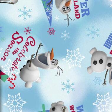 Olaf Frozen Celebrate The Season Disney Fabric