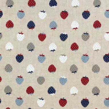 Linen Nautical Strawberries Fabric