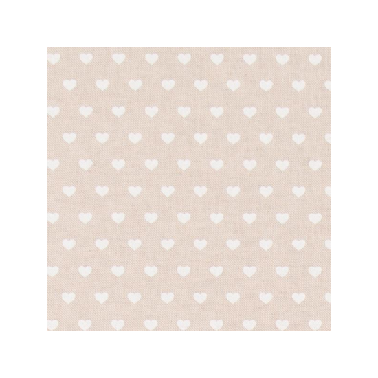 Hearts Linen Cotton Fabric
