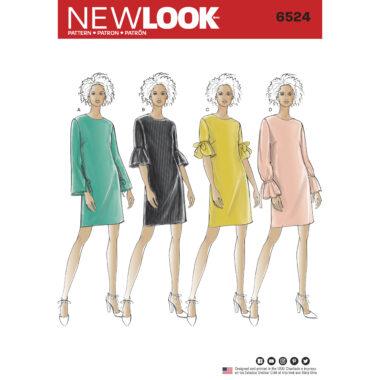 New Look Sewing Pattern 6524 Womens Dress