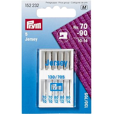 Prym Machine Needles 130/705 Jersey 70-90 5pcs