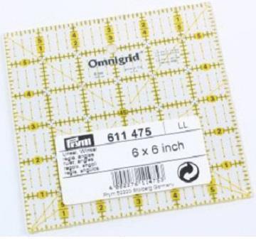 Prym Universal 6 x 6 Angle Omnigrid Ruler