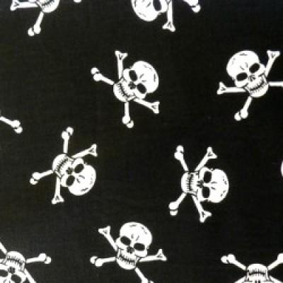 Skull And Crossbone Cotton Poplin