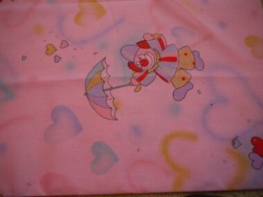 Pink Clowns Fabric