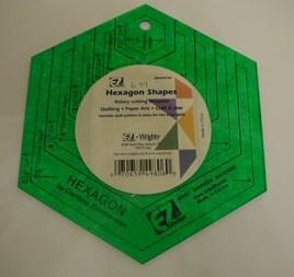 EZ Quilting Hexagon Template