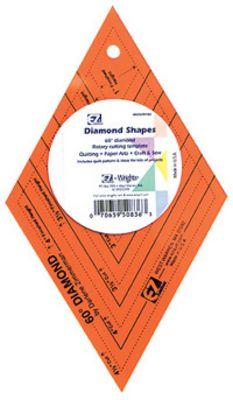 EZ Quilt Diamond Red Patchwork Template