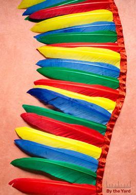 Feather Trim 7inch Drop
