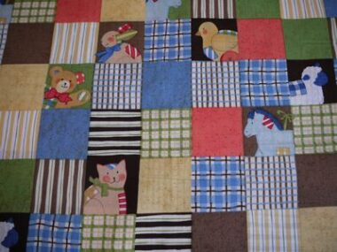 Toy Chest Animal Patch Fabric