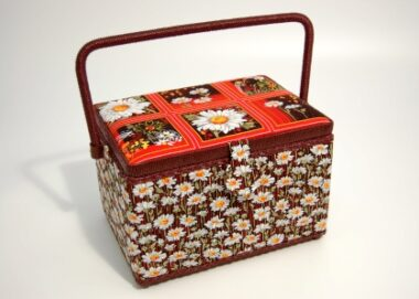 Daisy Delight Deep Sewing Basket