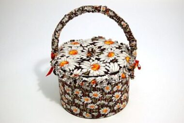 Daisy Delight Sewing Tub