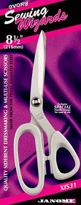 8 1/2 Janome Ivory Dressmakers Scissors