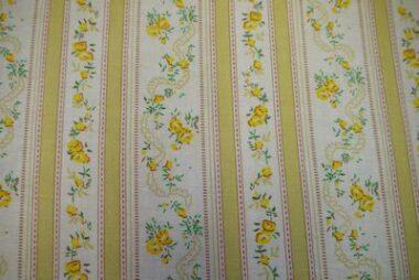 Lemon Flower Stripe Craft Cotton