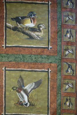 Hautman Ducks Cushion Panel Pair