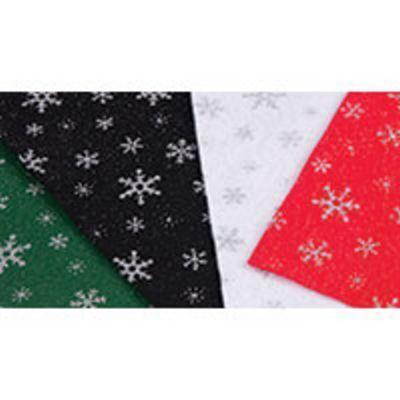 Snowflake Felt Fabric
