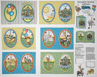 Bazooples Carousel Book Panel