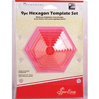 9 Piece Hexagonal Quilting Template Set