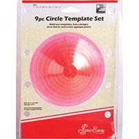 9 Piece Circular Quilting Template Set