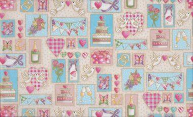 Makower Celebration Montage Fabric