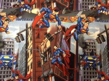 Superman Licensed Fabric