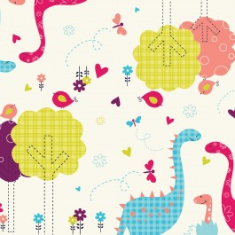 Baby Dino Camelot Fabric